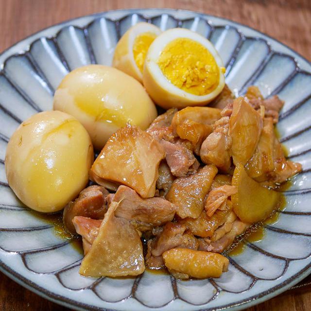 今日は少し煮込んでます「鶏もも肉と茹で卵の甘辛煮込み」&「メシ通さんアップ 今回は素麺レシピです」
