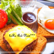 ロコモコ風サンドイッチ