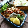 万能ナポリタンソース(作りおき)で〜ミートパスタ〜にばんの遠足のお弁当