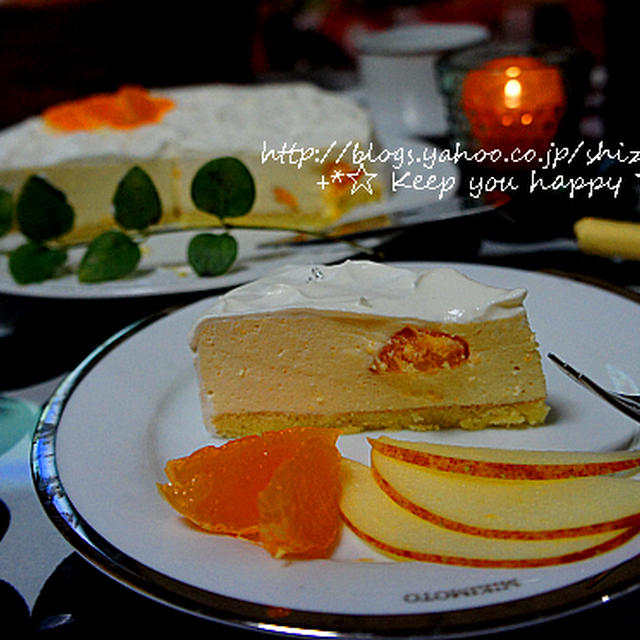 +*みかんのレアチーズケーキ+*