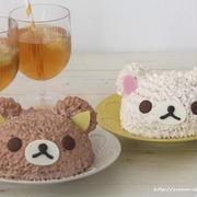 小学校卒業式とリラックマ&コリラックマのドームケーキ*キャラケーキ