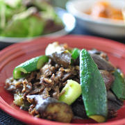 ナス・きゅうり消費レシピ《夏野菜と牛肉のガラムマサラ炒め》とガラムマサラを使ったお勧めレシピ、昨日の晩ごはん