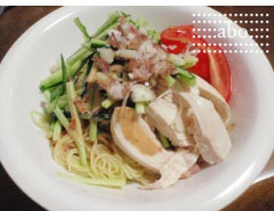鶏胸肉活用 夏料理::冷やし中華::弁当にも::