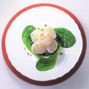 小松菜とホタテのセルクル