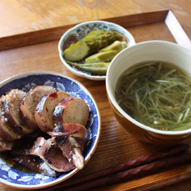 今日の献立-イカ飯定食