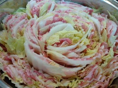 白菜と豚肉のミルフィーユ鍋\(^o^)/