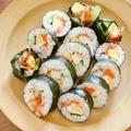 【離乳食・幼児食】野菜もパクパク!キンパ風恵方巻きレシピ・作り方