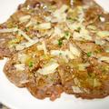 牛モモ肉の焼きカルパッチョ
