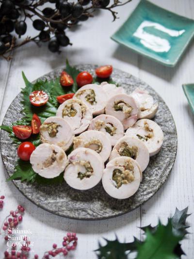 家計の味方!鶏むね肉レシピ♡鶏ハムアレンジ【しっとりジューシー 梅みそ鶏ハム】