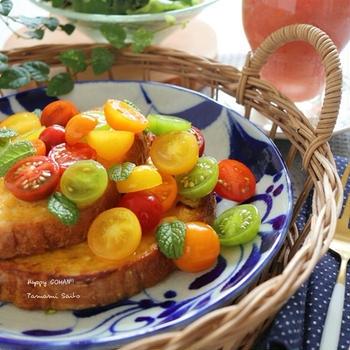 トマトとまとのフレンチトースト