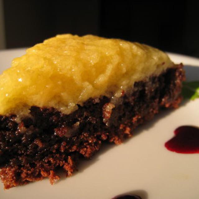 白黒レアチョコケーキ