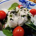 K カップのリサイクル処理 ~ 大根と海藻サラダのすし酢和え