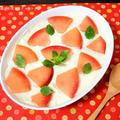 リンゴコンポートと豆腐クリームのスコップケーキ
