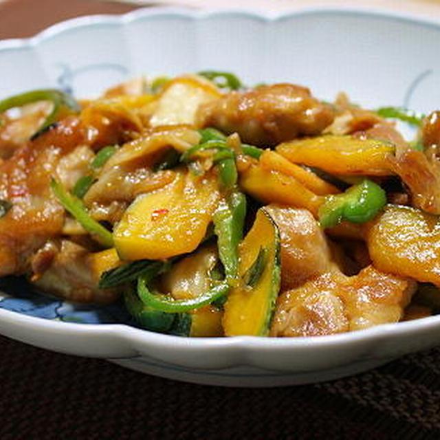 12/06/26 鶏肉とかぼちゃとキムチの甘味噌炒め