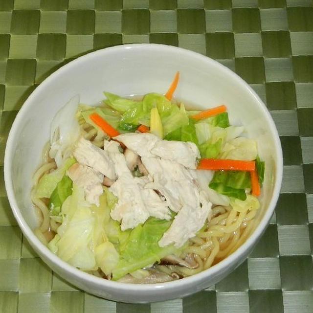 蒸し鶏の冷やしタンメン