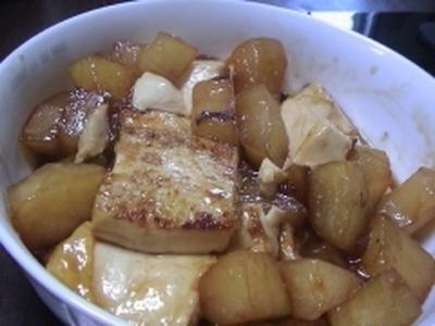 健康法師の 冬瓜と豆腐の甘辛煮