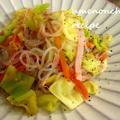 梅干で絶品ダイエット食☆糸こんにゃくの塩焼きそば45KCal。°