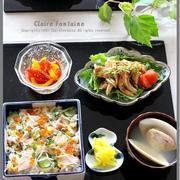 鮭と卵とキュウリのおすし(シロさんレシピ)!と、簡単よだれ鶏?