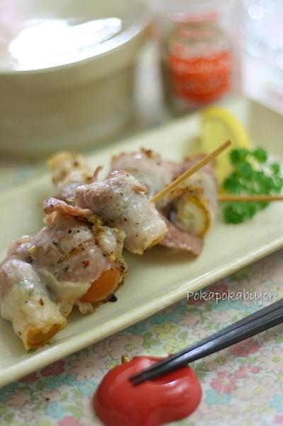 串焼き<豚肉&ズッキーニ&トマト>