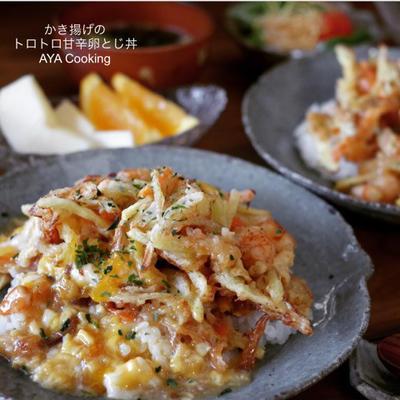 欲しいもの♡とかき揚げのトロトロ甘辛卵とじ丼