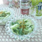 水菜のオリエンタル風マヨ炒め