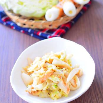 ちくわと千切りキャベツのオイマヨ炒めのレシピ
