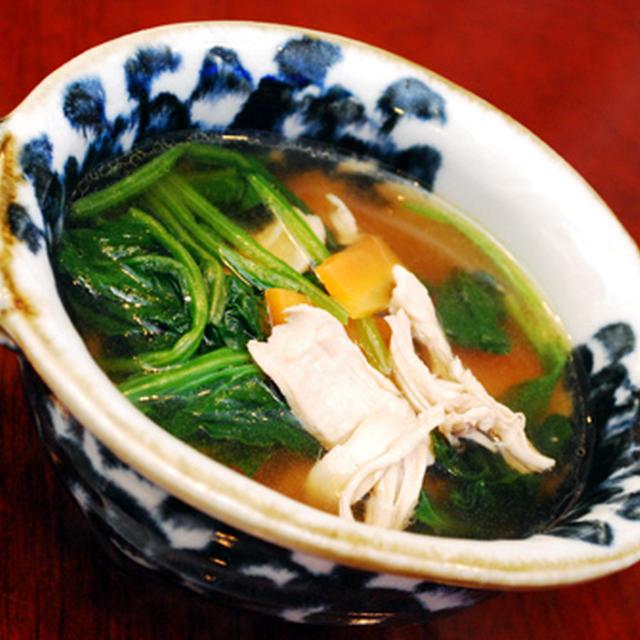 ササミとホウレン草のスープ