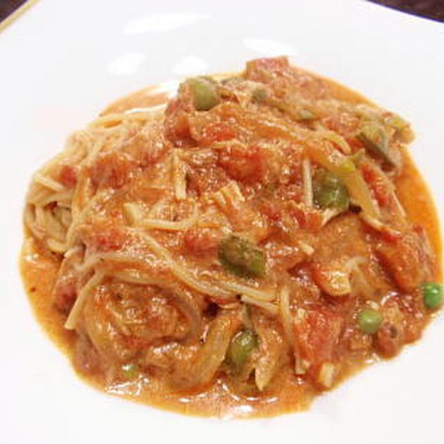 トマトクリームペペロンチーノ(レシピ付)