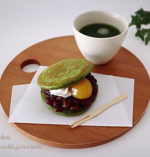 簡単・和スイーツ♡ホットケーキミックスdeミニ抹茶どらやき