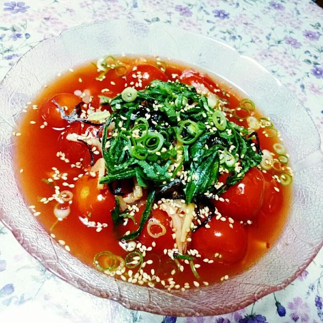 ☆ 焼きトマトの冷製キムチ風味 ☆