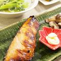 【和食】「自家製☆秋鮭の甘味噌漬け」&かぼちゃの煮物&小松菜とじゃこの炒め浸しで晩ごはん。食後はお抹茶でほっこりと。 by きちりーもんじゃさん