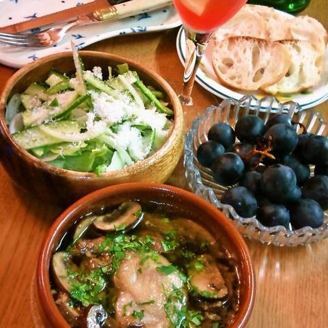 チキンとマッシュルームのアヒージョ ~ スペイン料理★