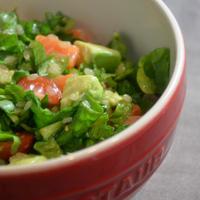 アボカド&サーモンでグレインズサラダ♪とリネン初炊飯。