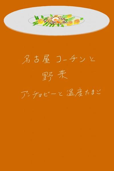 名古屋コーチンと野菜 アンチョビーと温度たまご