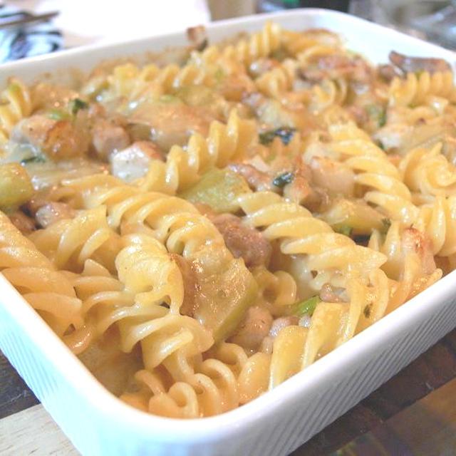 優しい味わい!鶏と茄子のクリーム煮グラタン