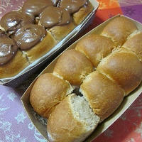 ふんわり可愛い!手土産にも!チョコちぎりパン2種♪