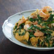 海老とニラの卵炒めとヤムウンセン