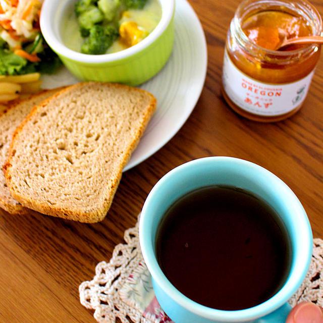 朝ごはん*お泊まり保育、娘のオモシロ言葉、新しいカップ、残り物でワンプレート朝ごはん