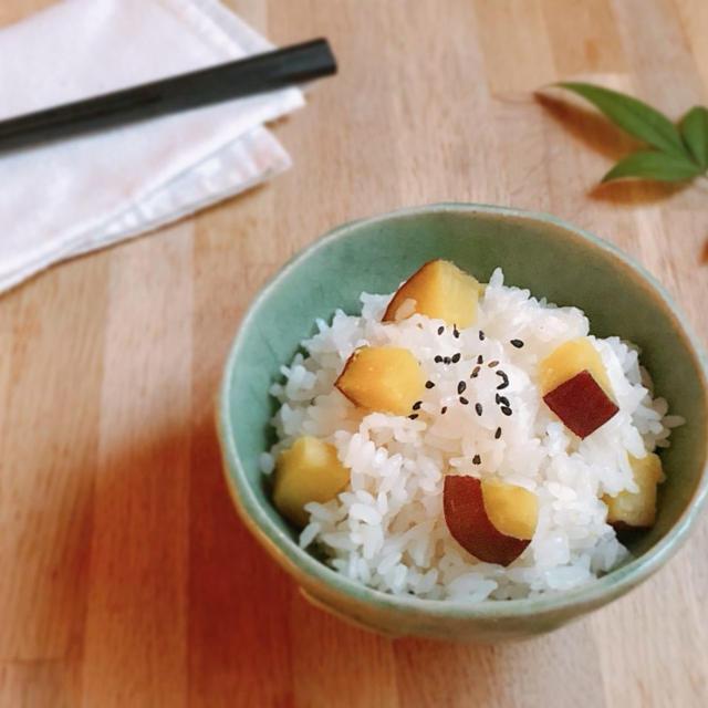 【これだけで満足】さつま芋の炊き込みご飯