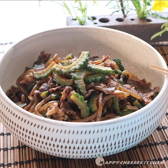 ゴーヤと牛肉のすき煮〜レシピあり