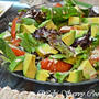 Roasted Tomatoes & Avocado Salad with Framboise Dreesing