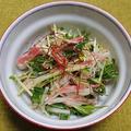 大根と水菜の和風サラダ、刺身盛り合わせ