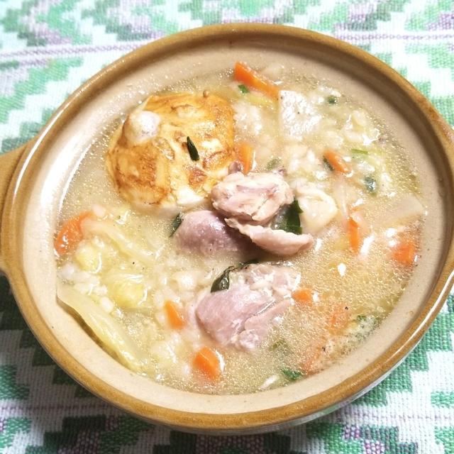 3. 手羽元で参鶏湯風スープ