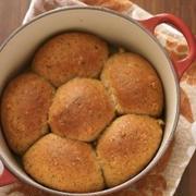 【おうちパン】ルクルーゼでくるみと紅茶のお花パン*(レシピ工程つき)
