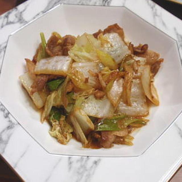 豚肉と白菜の生姜醤油炒め煮(レシピ付)