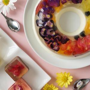 食べるお花って知ってる?「花のババロア」の可愛い世界観が話題♪