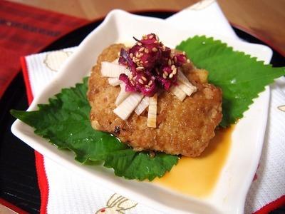 地鶏ミンチと軟骨のふわふわバーグ☆