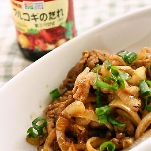『プルコギのタレ(甘口・辛口)』de豚玉シメジの炒め物