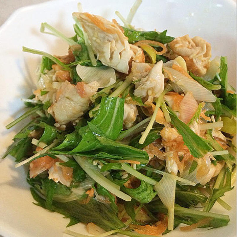 箸休めに!「水菜と鶏ささみ」のさっぱり和え物