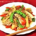 筍と豚肉の粒マスタード風味甘辛炒め